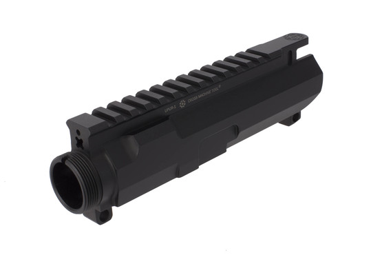 Cross Machine Tool ultra precision stripped billet ar-15 upper receiver features an indexing hole for their handguard