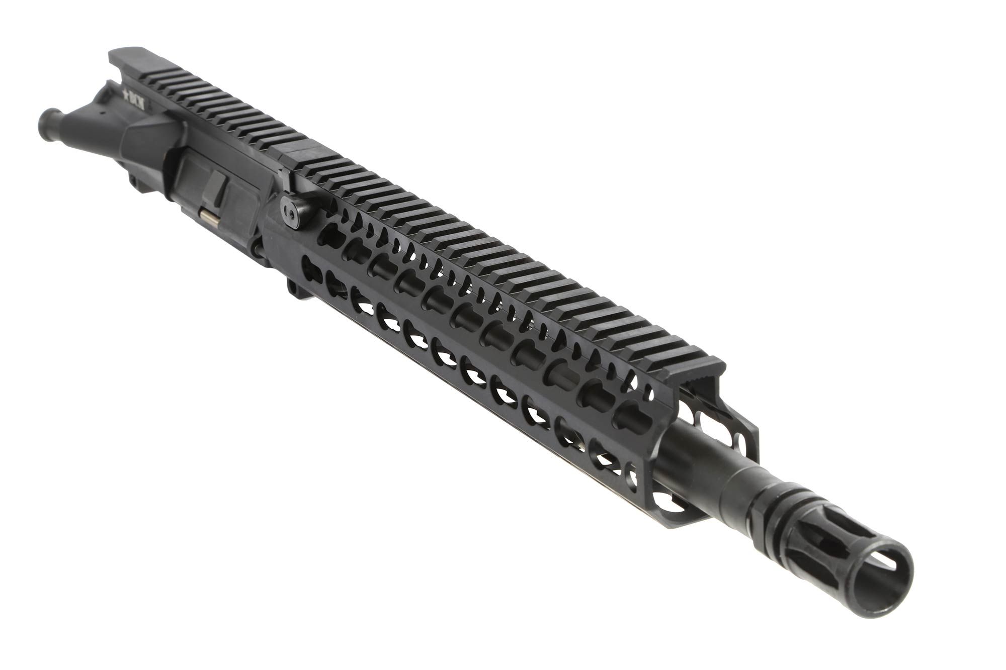 The BCM AR15 barreled upper receiver 12.5 inch government profile barrel is made from machine gun steel