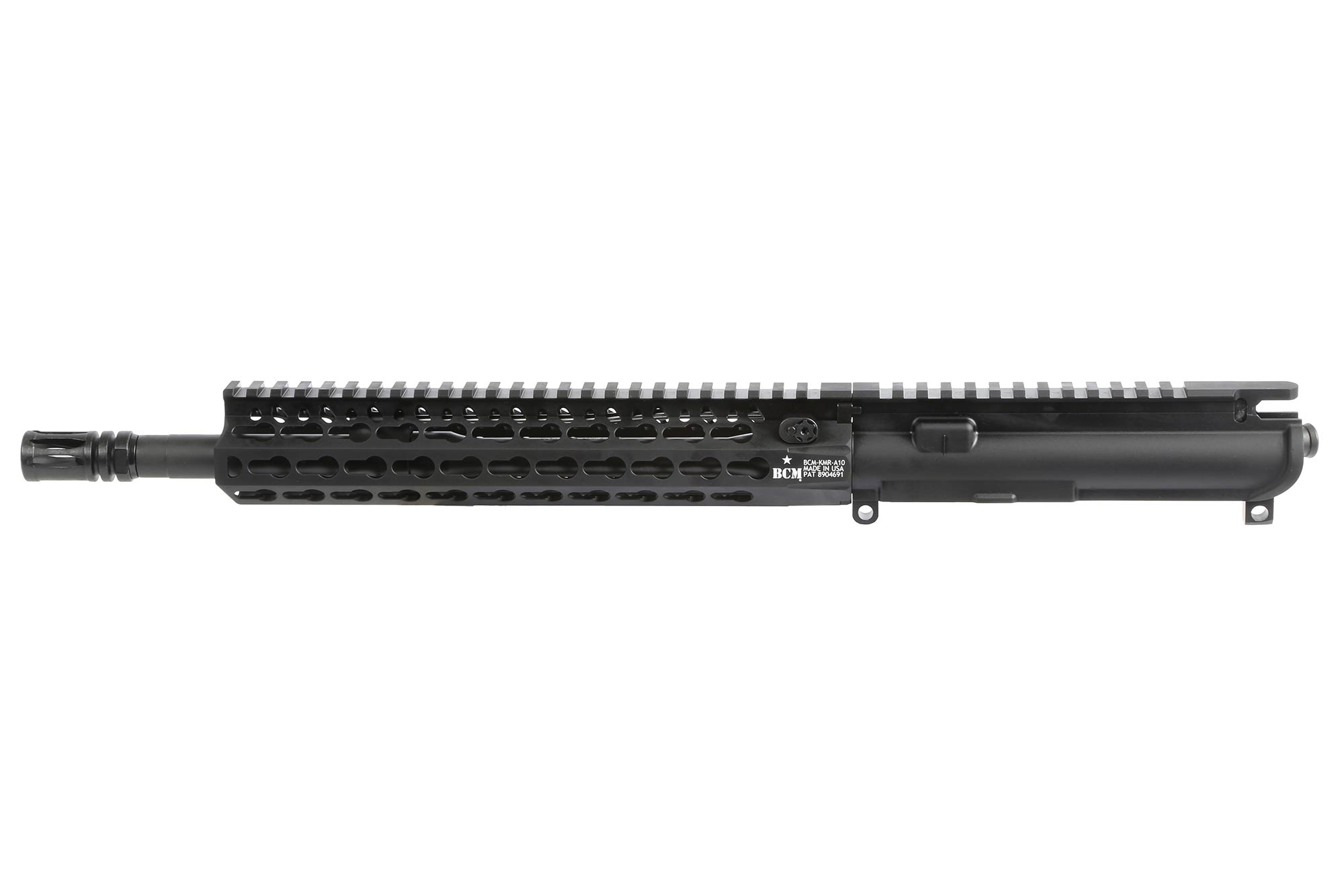 The BCM KMR AR15 upper receiver features a carbine length gas system