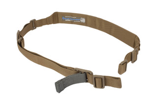 Blue Force Gear Vickers coyote 2-Point combat sling has a wide closed cell padded section for enhanced comfort