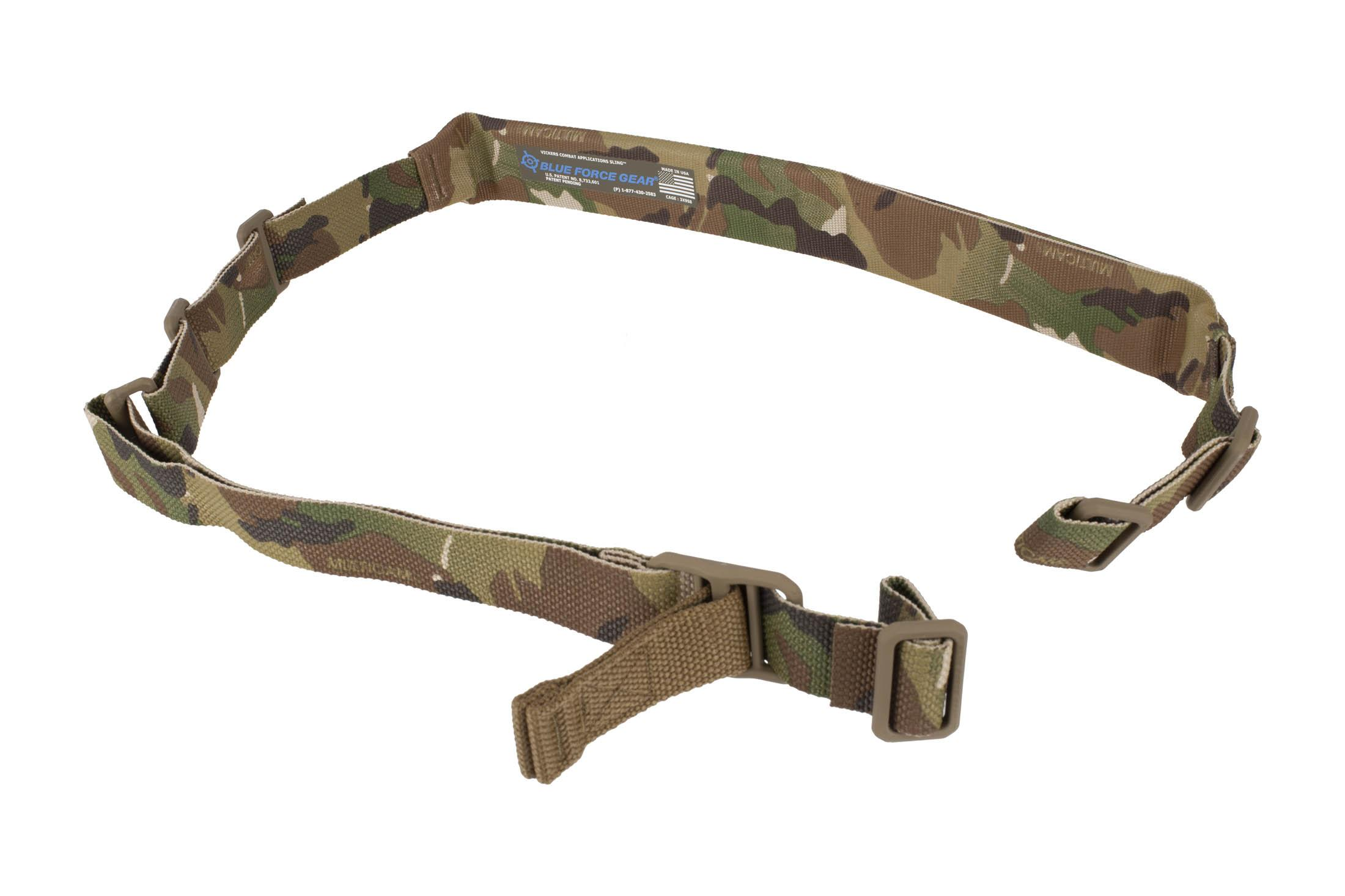 Blue Force Gear Vickers padded 2-point carbine sling in MultiCam