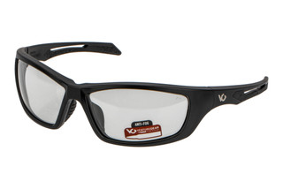 Pyramex Venture Gear Tactical Howitzer ballistic eye protection with black frame and 100% UV blocking clear lenses