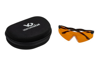 Pyramex Venture Gear Drop Zone safety glasses freature ballistically rated, interchangeable lenses that block 100% of UV light.