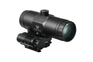 The Vortex Optics 3x magnifier with flip to side mount is made from durable aluminum with black anodized finish