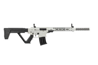 Rock Island VR80 12 Gauge Tactical Shotgun in Stormtrooper White has a tactical stock