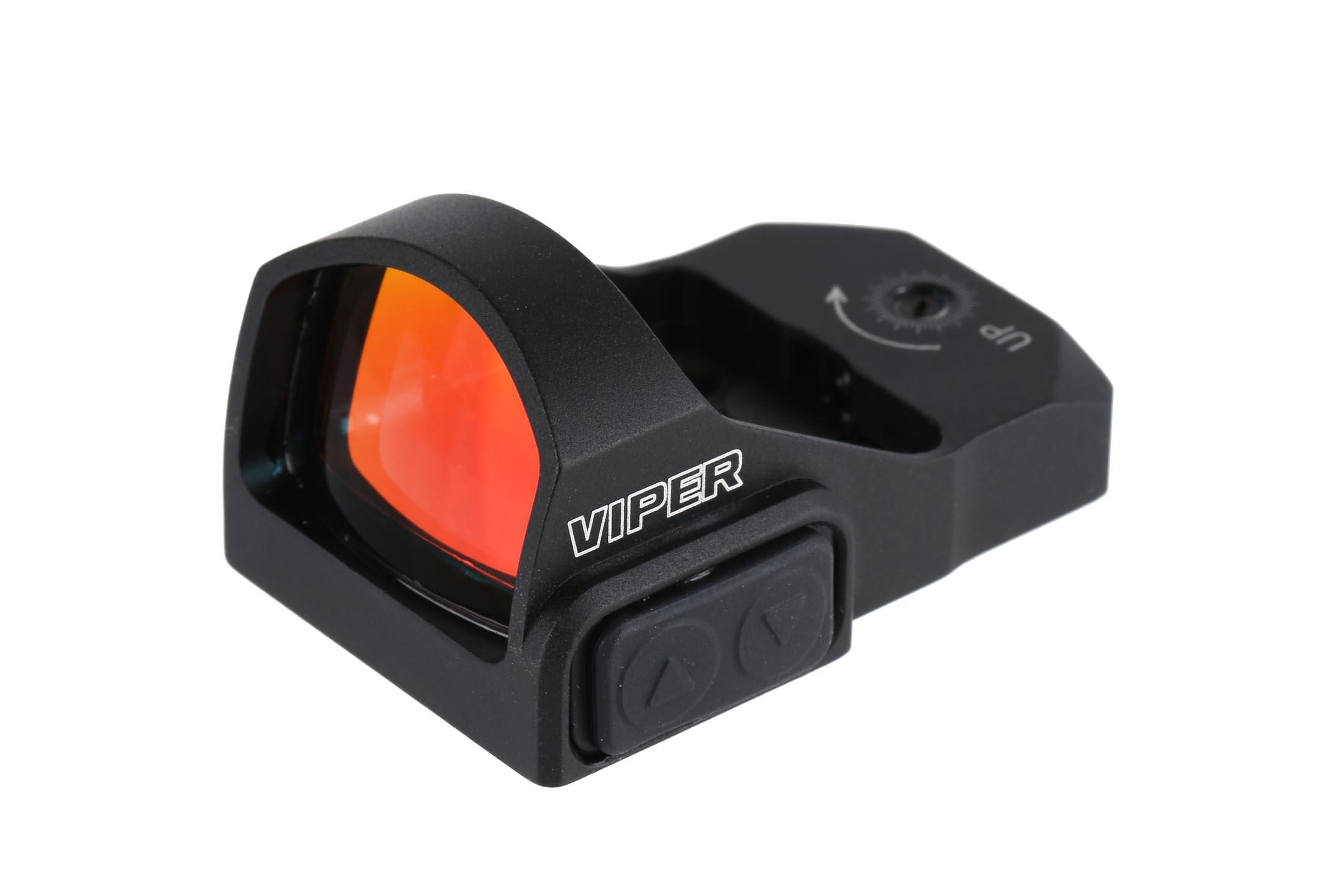 This red dot pistol sight by Vortex Optics has fully multicoated glass lens with an extremely wide field of view