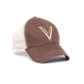 Velocity Systems snapback hat in brown and tan