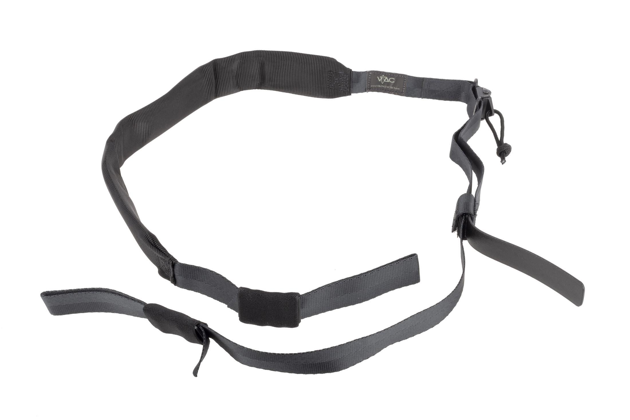 The Viking Tactics Vtac two point wide padded upgraded two point sling in black features durable metal hardware