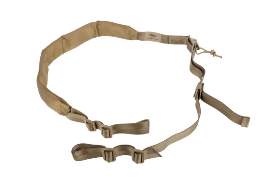 The Viking Tactics Coyote V-Tac 2 point sling features a wide, padded shoulder strap for added comfort