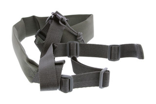 The Viking Tactics Vtac two point rifle sling in foliage green has a wide padded shoulder strap for added comfort