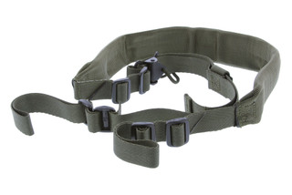 The Viking Tactics V-Tac 2 point rifle sling features an olive drab ultra durable nylon and a wide range of adjustability