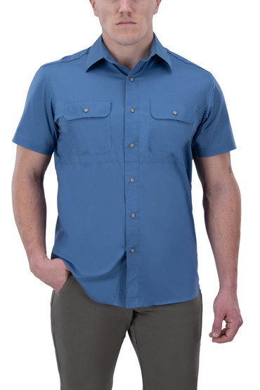 Vertx Guardian 2.0 Short Sleeve Shirt in blue chill from front