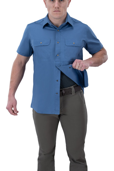 Vertx Guardian 2.0 Short Sleeve Shirt in blue chill with concealed carry function