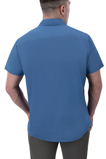 Vertx Guardian 2.0 Short Sleeve Shirt in blue chill from back