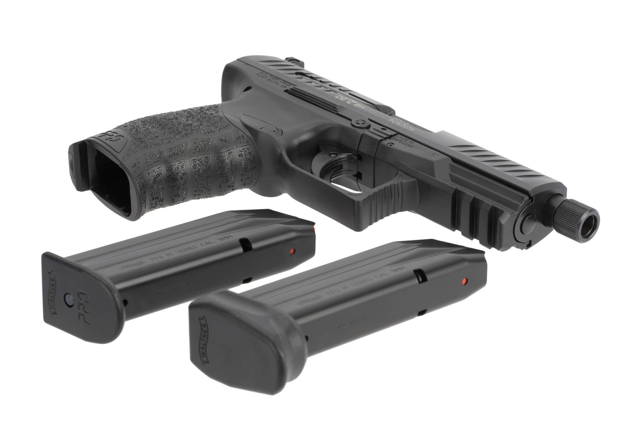 Walther PPQ M2 Navy 9mm Compact Handgun with 15/17-Round Magazines - 4 6