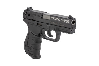 The Walther PK380 is a .380 ACP Compact 8 round Handgun with a 3.6 inch Barrel and black polymer frame designed for concealed carry