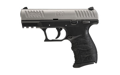 The Walther CCP is a 9mm Compact 8 round Handgun with a 3.54 inch Barrel and Stainless steel slide with black polymer frame for concealed carry