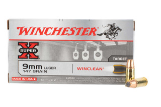 Winchester Superx 9mm ammo features a soft point bullet