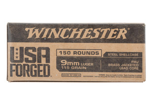 Winchester 9mm Ammo features a 115 grain full metal jacket bullet