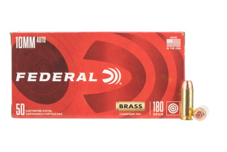 Federal 10mm auto features a 180gr fmj bullet