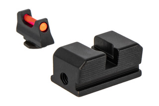 Trijicon's Fiber Sight Set for Walther P99 and PPQ is a high-contrast competition and carry sight set