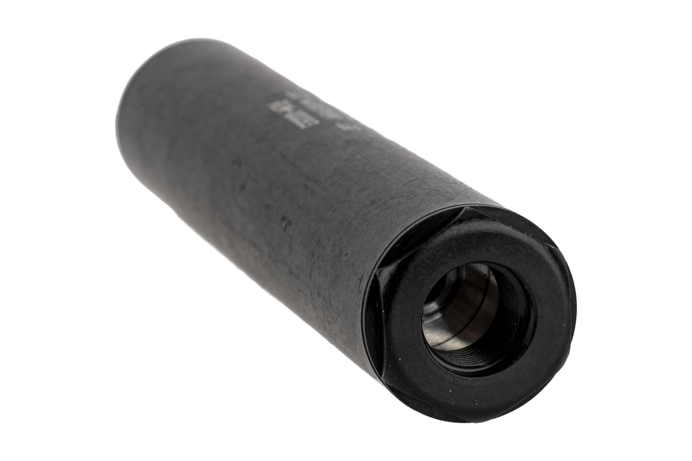 Wise Arms 5.75 rimfire suppressor is direct thread installation and handy user disassembly.