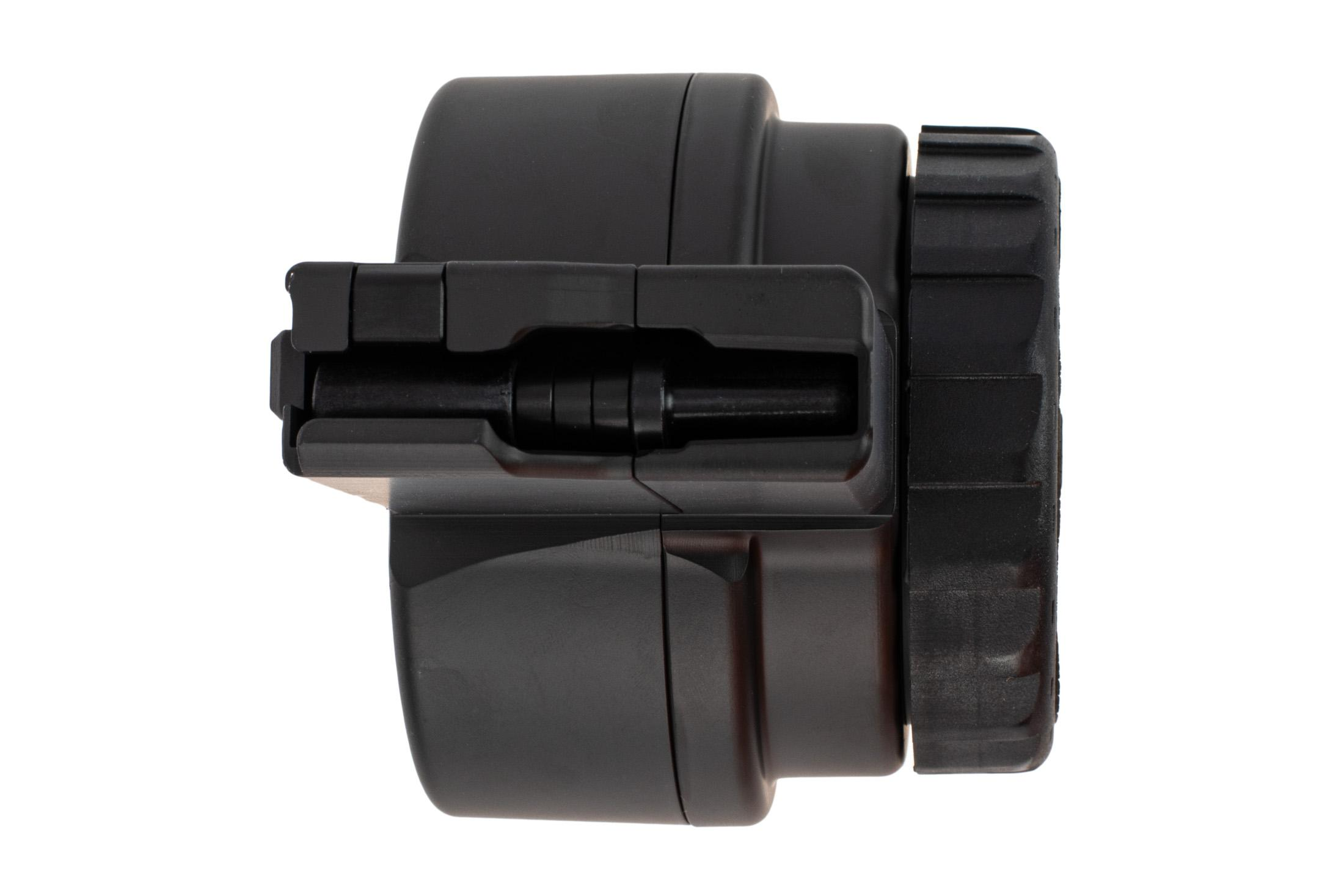 X Products 50 round AR-15 drum magazine has a compact reliable design for 5.56 nato
