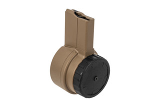 X Products 50rd AR-15 drum magazine with Flat Dark Earth finish
