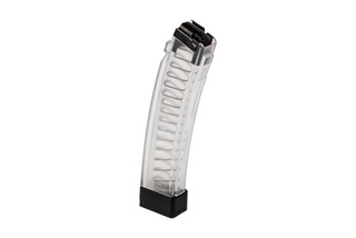 Manticore Arms clear body magazine for the CZ Scorpion EVO 3 holds 32 rounds of 9mm ammunition.