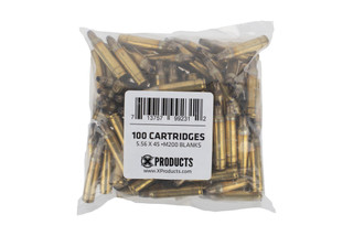 The X Products m200 5.56 blanks ammunition bag of 100 rounds is designed to be used for training or with the can cannon