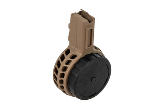 X Products 50rd CZ Scorpion skeletonized drum magazine with flat dark earth finish