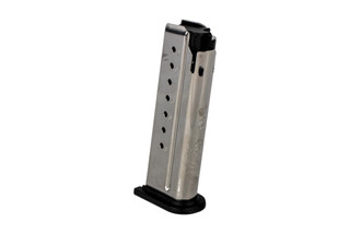 The Springfield XDE Magazine holds 8 rounds of 9mm ammunition