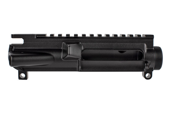 Expo Arms Stripped AR15 upper receiver features a black hardcoat anodized finish