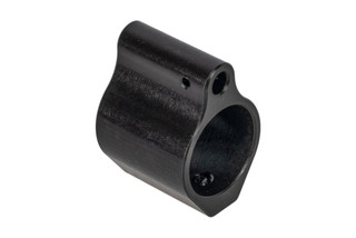 Expo Arms Low Profile Gas Block features a salt bath Nitride finish