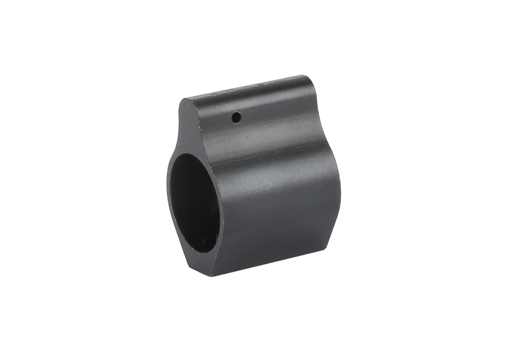 The Expo Arms set screw gas block features a manganese phosphate finish