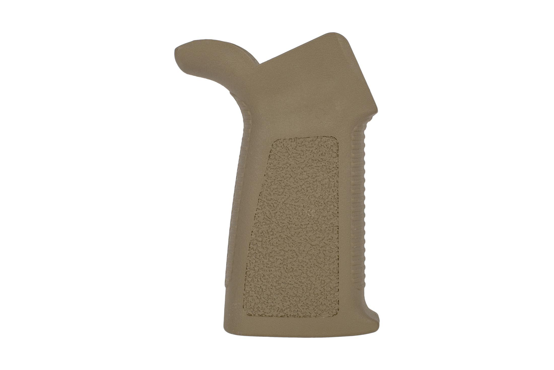 Expo Arms rugged black AR15 pistol grip is ergonomic and incredibly affordable design with ridged texture on front and rear straps