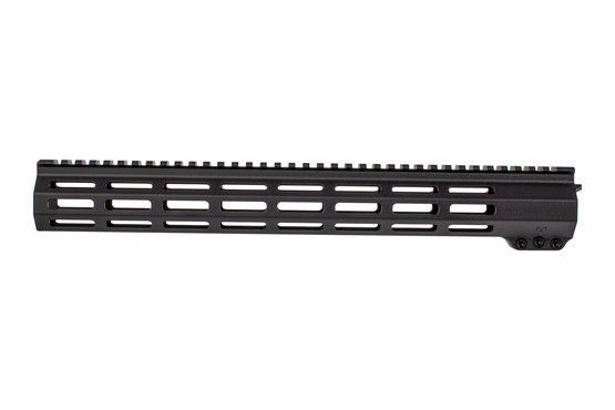 EXPO Arms black anodized 15in E-series M-LOK handguard for the AR-15 is free floated and lightweight rail system.