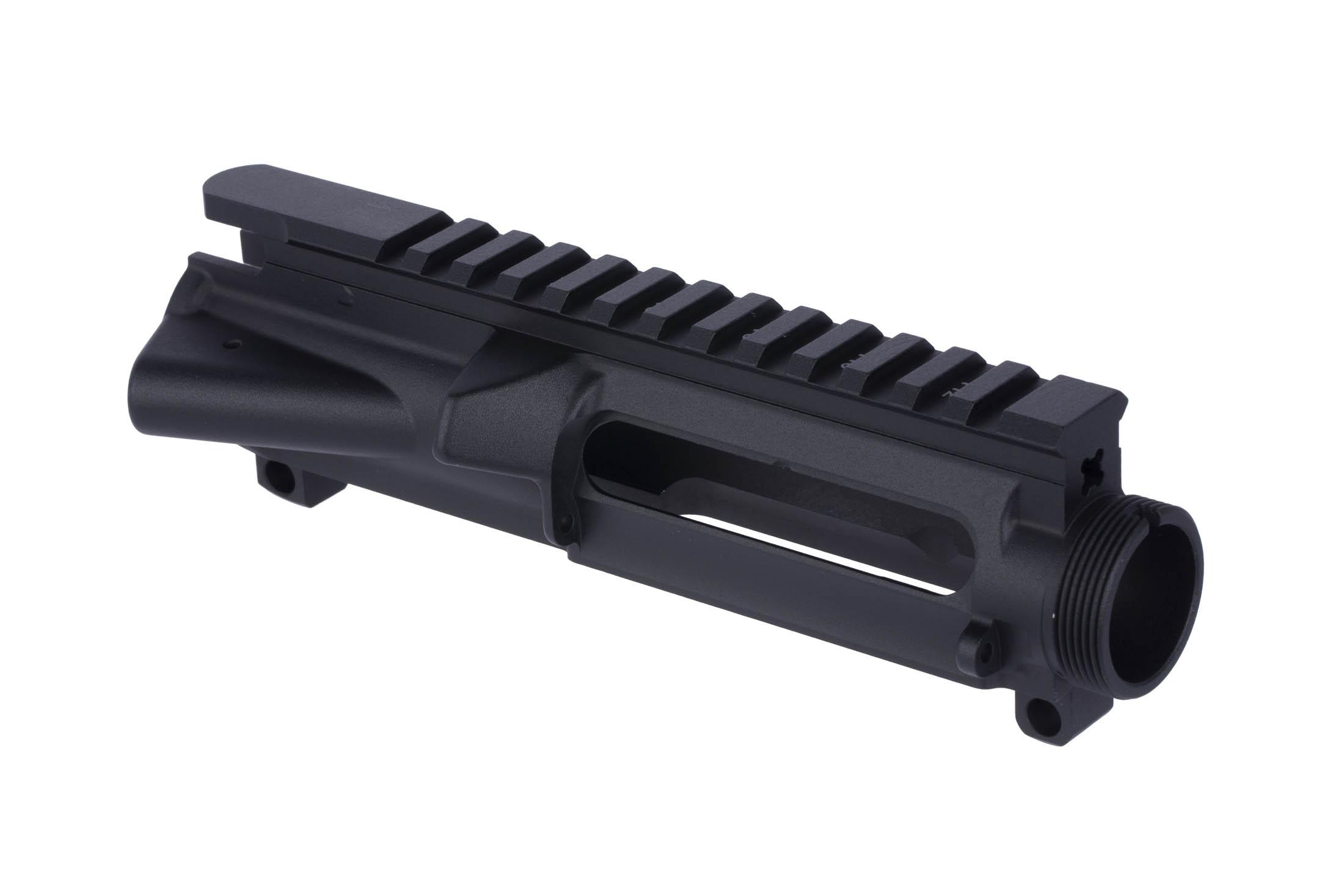 The Expo Arms AR-15 stripped upper receiver is ready to accept a standard port door and forward assist