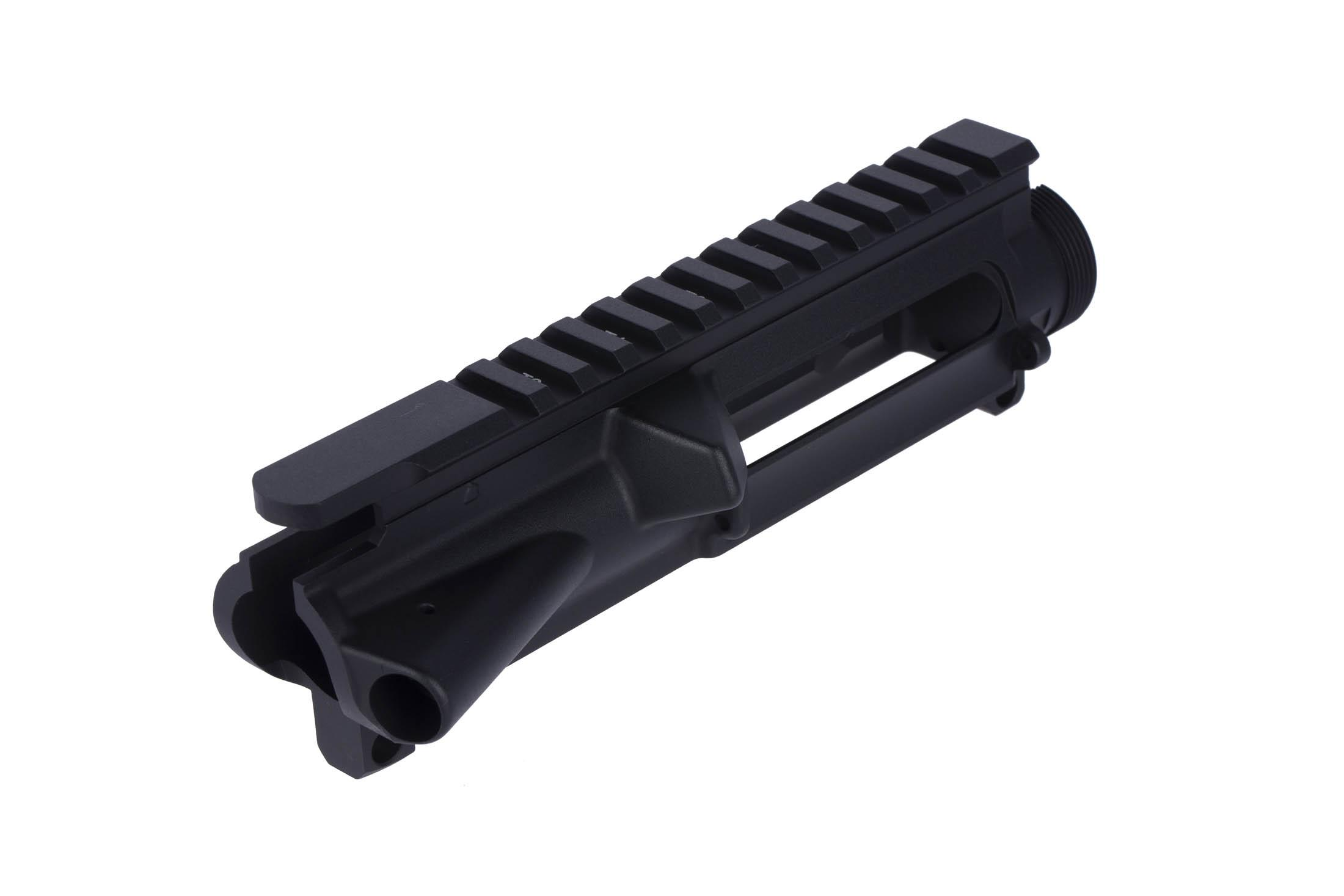This AR-15 stripped upper receiver includes M4 feed ramps