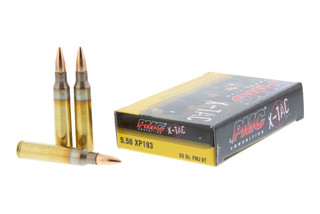 The PMC ammunition 5.56 NATO 55 grain FMJ boat tail comes in a box of 20 at an affordable price