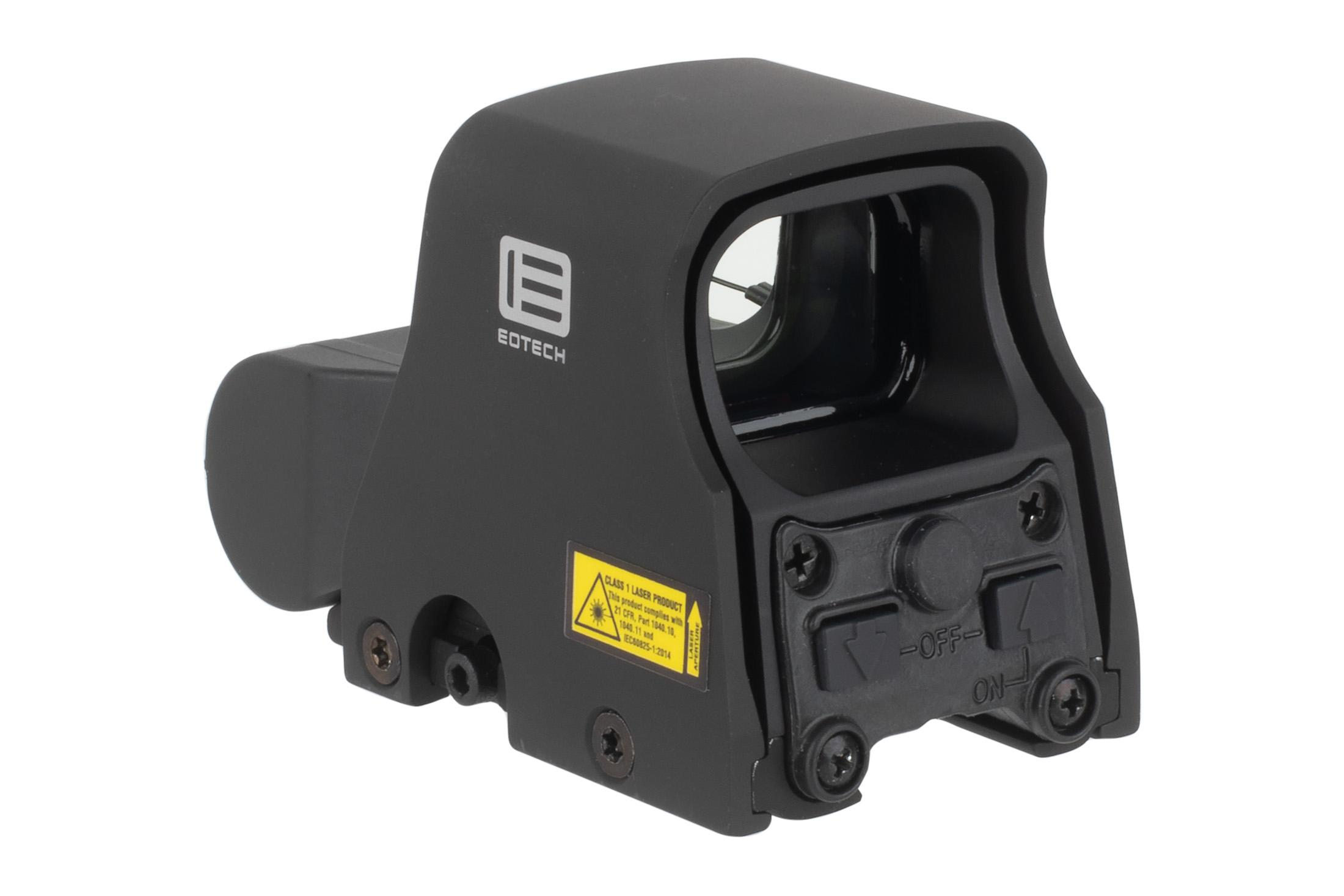 The EOTech XPS2 2 weapon sight features rear facing brightness buttons