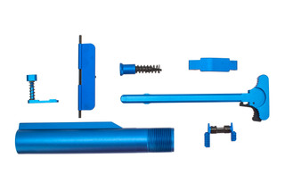 XTS anodized AR-15 parts kit with blue finish includes the parts shown here.