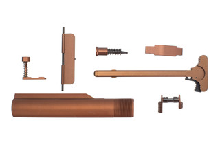 XTS anodized AR-15 parts kit with brown finish includes the parts shown here.