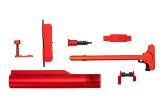 XTS anodized AR-15 parts kit with red finish includes the parts shown here.