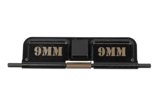 Yankee Hill Machine AR15 ejection port cover is marked 9mm