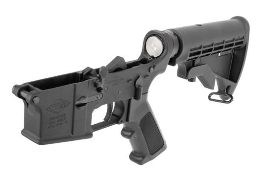 Yankee Hill Machine complete AR15 lower receiver with M4 stock is fully assembled with Mil-Spec parts