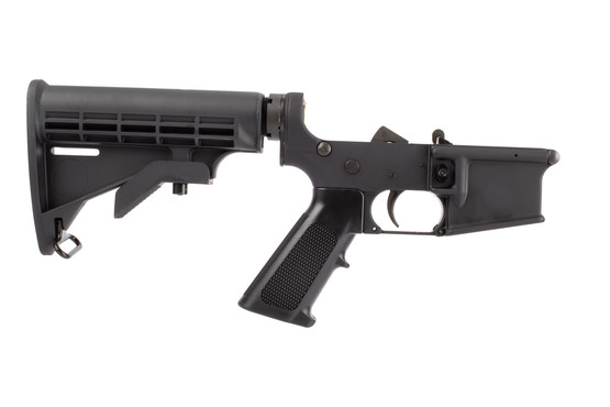 Yankee Hill Machine Complete AR-15 lower receiver group comes with an M4 carbine stock