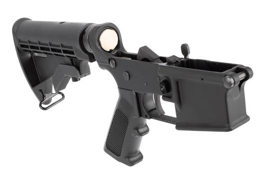 YHM AR 15 Complete Lower Receiver comes with a carbine buffer system