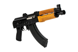 The Zastava Arms USA ZPAP92 AK pistol features a 10 inch cold hammer forged barrel