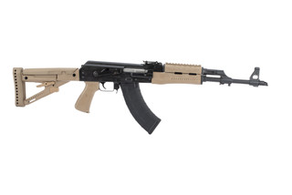 Zastava M70 ZPAP AK-47 with chrome lined 7.62x39mm barrel features a bulged trunion and FDE polymer furniture